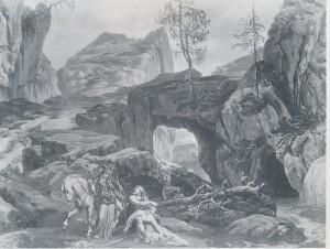 MVRW BAYREUTH 1876 DECORS LA WALKYRIE acte II