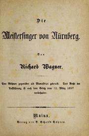 MVRW Meistersinger Partitur