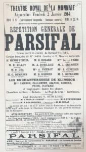 MVRW Premiere PARSIFAL MONNAIE 1914