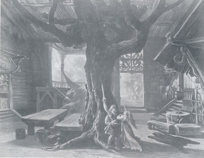 MVRW BAYREUTH 1876 DECORS LA WALKYRIE acte I