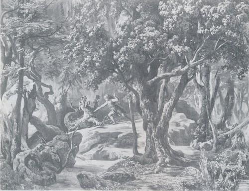 MVRW BAYREUTH 1876 DECORS SIEGFRIED acte II