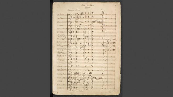 MVRW Ouverture Rule Britannia Richard Wagner autographe
