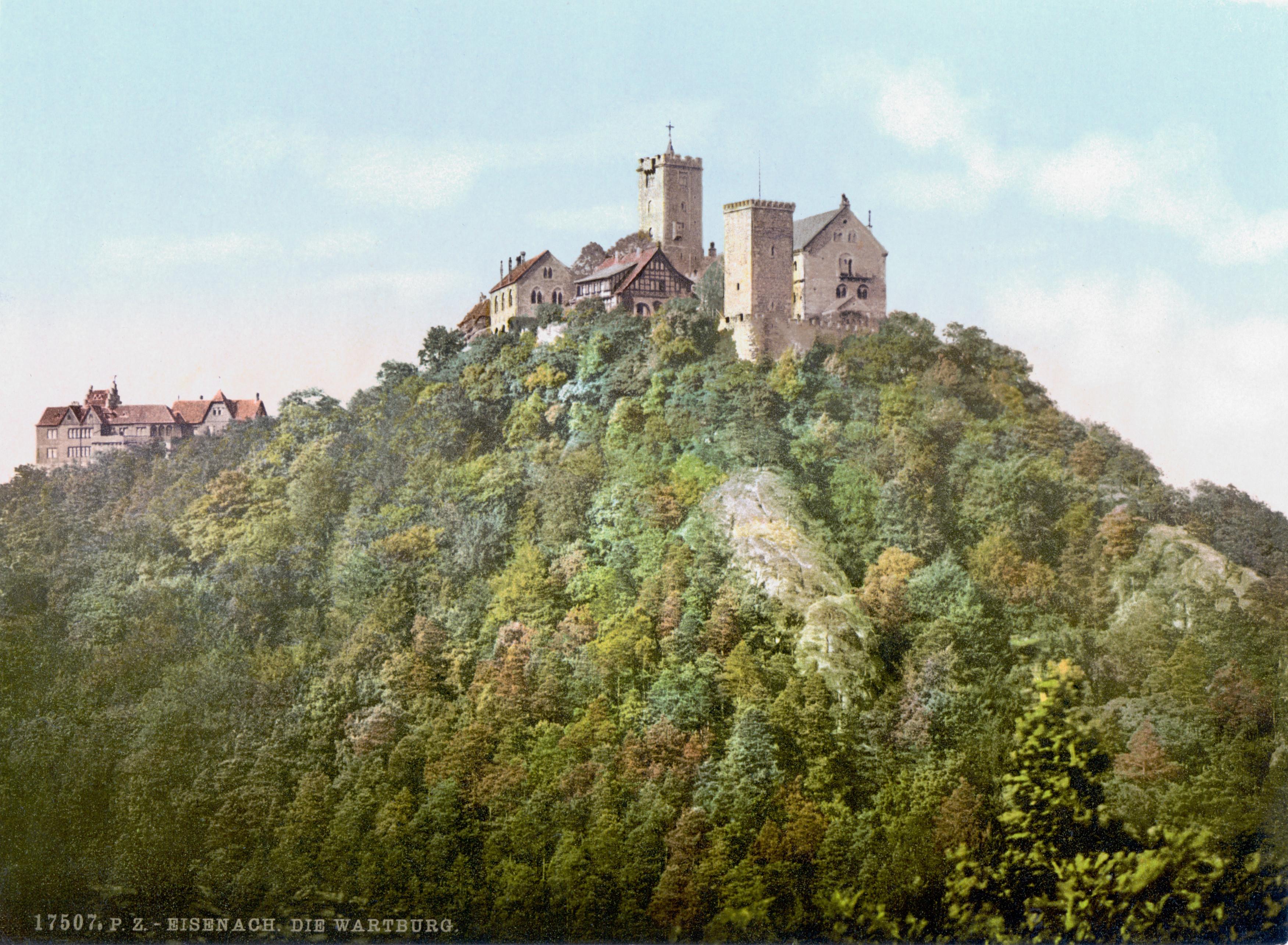 Le chapeau de la Warburg près d'Eisenach en Thuringe qui servit d'inspiration à Richard Wagner pour Tannhäuser