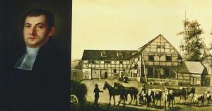 Le pasteur WETZEL à qui fut confiée l'éducation du tout jeune Richard Wagner et sa maison, à quelques heures de marche de Dresde