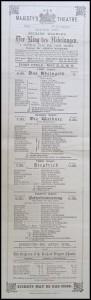 Playbill pour les représentations à Londres - mai 1881