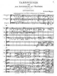 MVRW TANNHAUSER OuverturePartitur Orchester