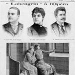 """Création de """"Lohengrin"""" à Paris avec Ernest VAN DYCK dans le rôle titre (première de couverture du journal """"Le Petit Illustré"""""""