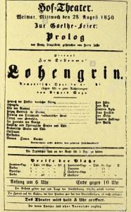 MVRW LOHENGRIN Weimar 1850 affiche