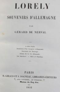 MVRW NERVAL Gerard de Souvenirs d'Allemagne