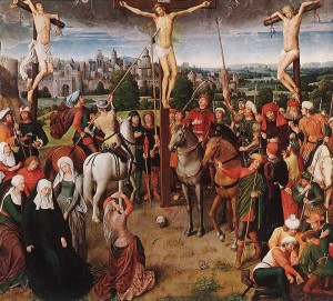 Jésus transpercé par la lance