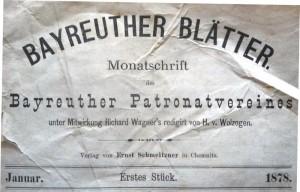 MVRW Bayreuther Blaetter 1878