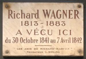 MVRW Plaque_Richard_Wagner,_14_rue_Jacob,_Paris_6