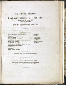 MVRW LOHENGRIN 1850 Partition originale