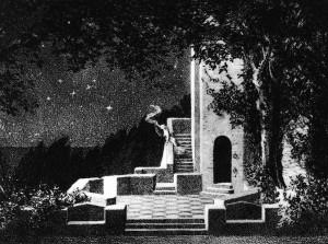 Alfred Roller - Mahler - Set design for Act II - Wagner - Tristan und Isolde